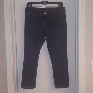 White House Black Market Blanc slim crop size 8